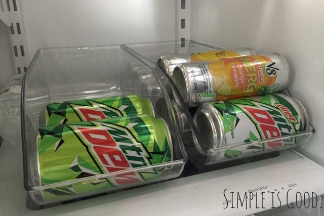 Refrigerator Pop Can Holder
